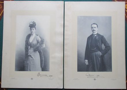 3rd Baron Ormathwaite & Lady Clementine Frances Anne Pratt Signed Walery Photo